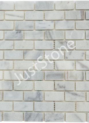 Бело-серая Мозаичная плитка Матовая МКР-11СВ (47х23)