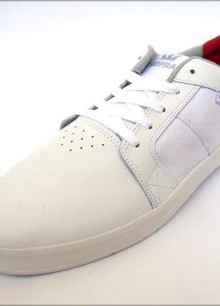 30.5 белые кроссовки supra ineto скейтеры кеды оригинал