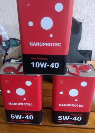 Nanoprotec 10w40 напопротек 5w40 моторное масло