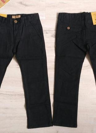 Черные котоновые брюки для мальчика в школу 6-16 р.