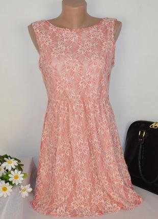 Брендовое розовое нарядное мини короткое платье atmosphere кру...