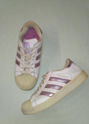 Adidas superstar! Белые кроссовки, 35 размер
