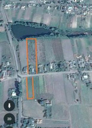 Продам земельний участок під застройку або ведення господарства в