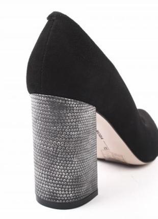 Туфли лодочки на устойчивом на каблуке bravo moda натуральная ...