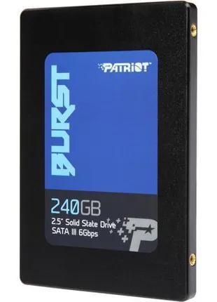 "SSD накопитель Patriot Burst 240GB 2.5"" 7mm SATAIII TLC 3D"