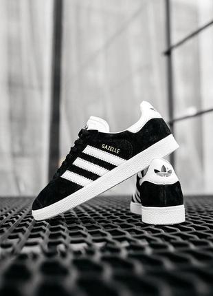 "Кроссовки adidas gazelle ""black/white"" женские"