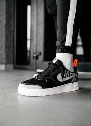 "Кроссовки мужские nike air force 1 low under construction ""black"""