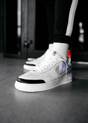 "Кроссовки мужские nike air force 1 low under construction ""white"""