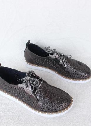 Перфорированные туфли на шнурках, оксфорды, броги, дербы 37 ра...
