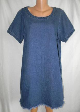 Джинсовое платье большого размера