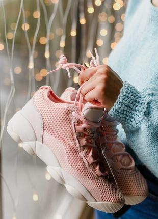 Стильные женские кроссовки fila spaghetti pink розовые