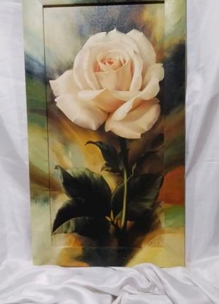 Картина Роза  репродукция,дорисовка.