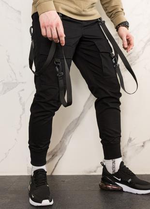 Мужские спортивные штаны с лямками карго штаны с лямками