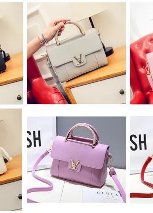 Модная женская сумка в стиле Louis Vuitton эко -кожа