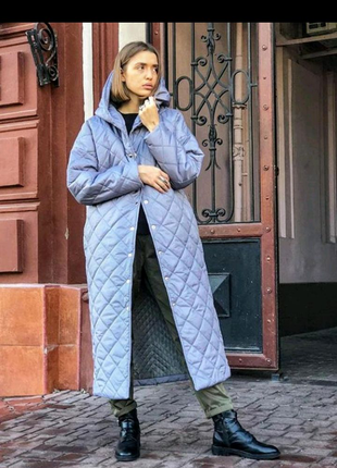 Зимняя стеганая куртка пуховик синтепон 250