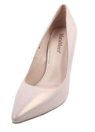Туфли лодочки maria moro натуральная лазерная кожа весна 2019