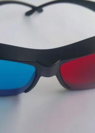 Анаглифные 3D очки пластик