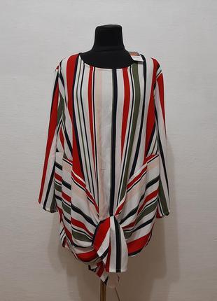 """Стильная модная шифоновая блузка """" веселка """" большого размера"""