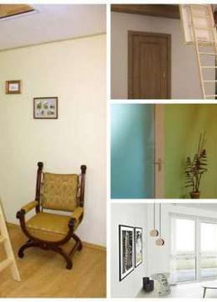 Чердачные лестницы, мансардные окна Oman, Fakro ,Velux