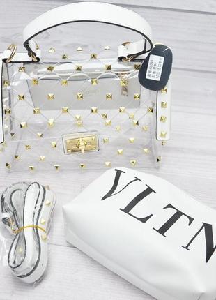 Стильная прозрачная сумочка, с косметичкой , новая коллекция ,...