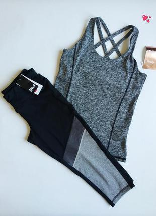 Комплект спортивный капри и майка,одежда для фитнеса