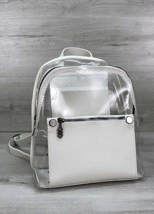 Силиконовый рюкзак бонни с белый полупрозрачный
