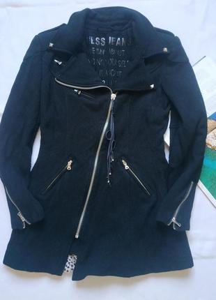 """Трендовое пальто - косуха (с ассиметриченой молнией )""""guess"""""""