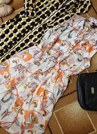 Летнее шифоновое платье h&m