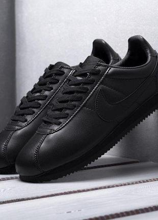 Кроссовки мужские nike cortez classic leather black👍🏻