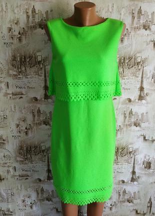 Невероятное,яркое,неоново-салатовое платье. 14-16 р-р