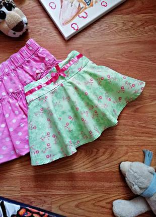 Детская летняя милая пышная юбка - шорты - возраст 1-2 года
