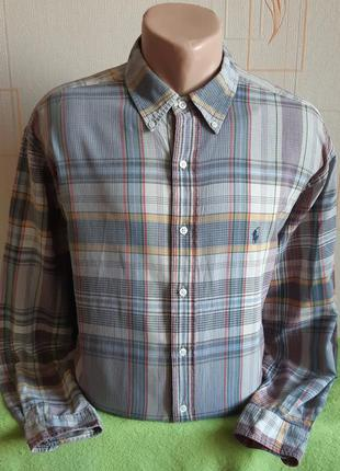 Винтажная рубашка polo ralph lauren, made in singapore