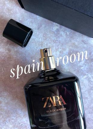 Духи zara black amber/парфуми/туалетна вода/парфюм/туалетная вода
