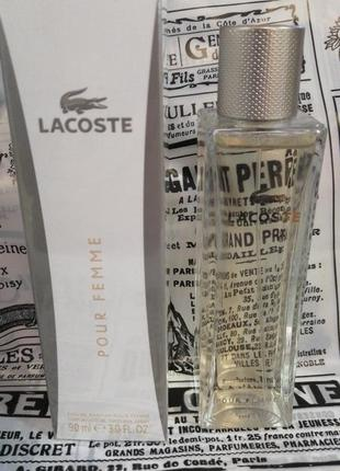 Lacoste pour femme парфюмированная вода 90мл. новый оригинал