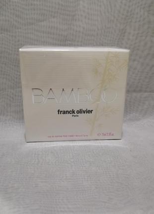 Franck olivier — bamboo for women женская парфюмированная вода...
