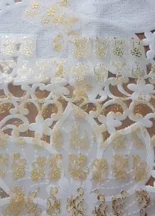 Декор, наклейки на ногти золото