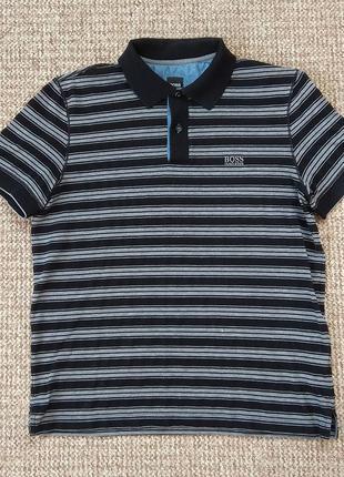 Hugo boss поло футболка slim fit оригинал (l)