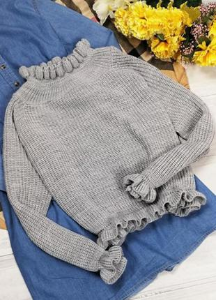 Тренд 2020 свитер с оборками от cameo rose/new look