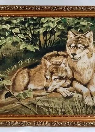 """Гобеленовая картина """"Волки"""""""
