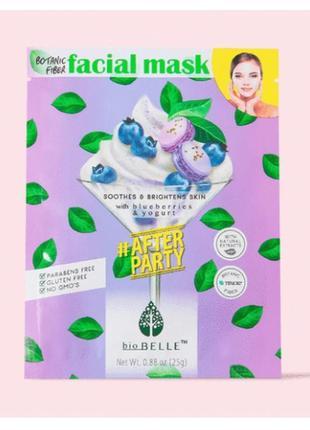 Biobelle тканевая маска для лица с черникой и йогуртом для тус...