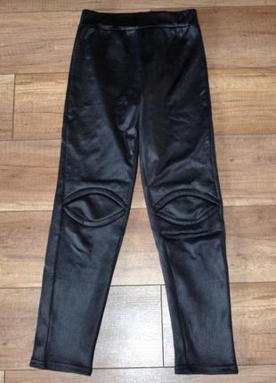 Леггинсы, лосины, штаны теплые девочке на флисе 128-140 см, 8-...