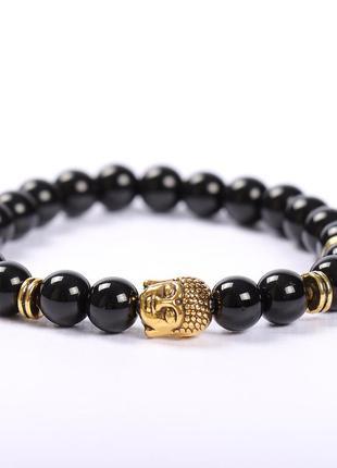 Красивый браслет с буддой из агата