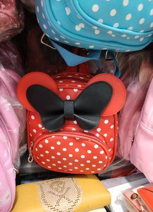 Маленький рюкзачок, рюкзак красный в горошек