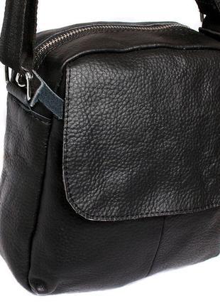 Коричневая мужская сумка в винтажном стиле, длинный ремень
