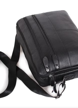 Мужской кожаный портфель, сумка кожаная коричневая