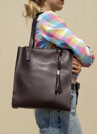 Красивый набор сумок (цвет темный шоколад)