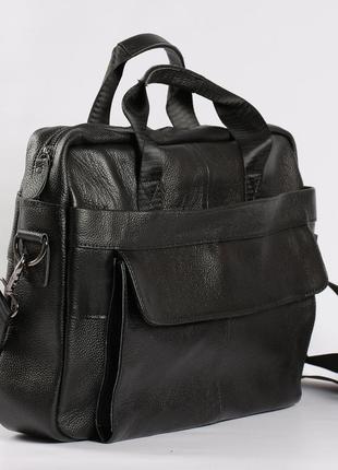 Кожаный мужской портфель, сумка для ноутбука