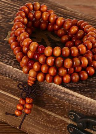Очень стильный многослойный браслет из сандалового дерева