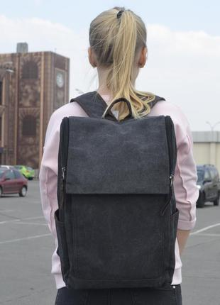 Большой серый рюкзак для ноутбука, городской, повседневный