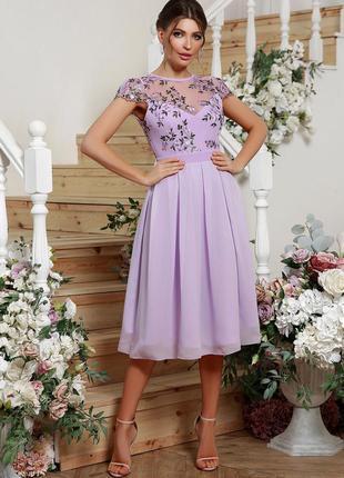 🔥new🔥 нарядное платье лавандового цвета